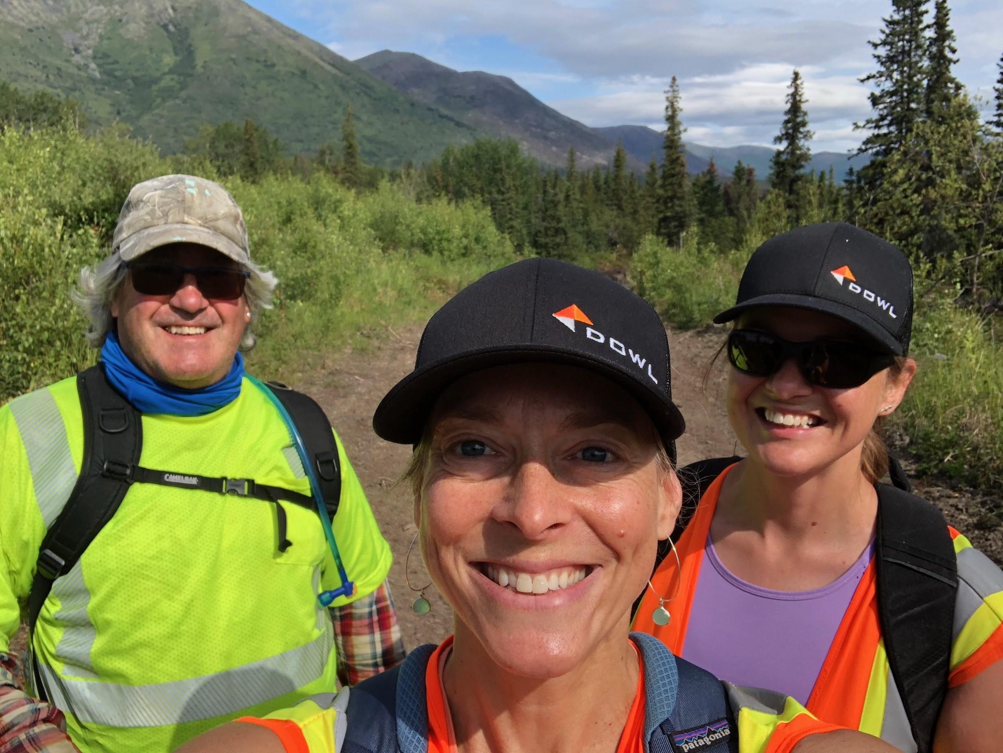 DOWL team members in the field